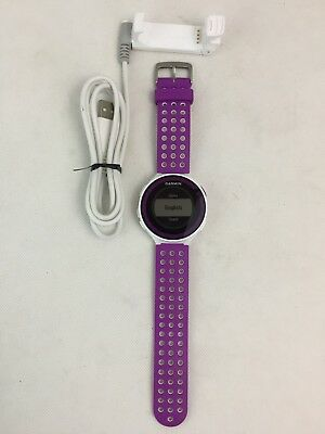Garmin - Forerunner 220 - GPS Running Watch - With Charger - White/Purple