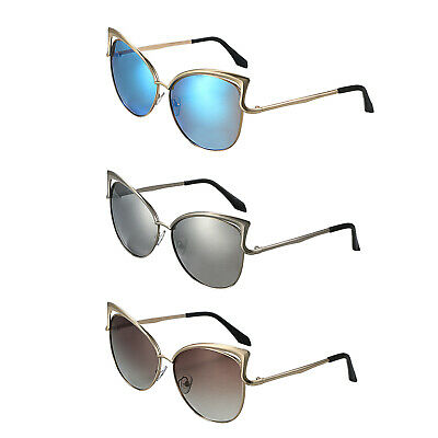 Women Polarized Mirror Sunglasses Vintage Cat Eye Outdoor Sports Glasses Eyewear