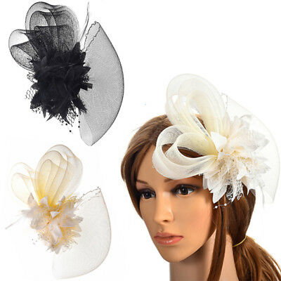 M MISM Flower Feather Hat Hairgrip Festival Wedding Party Women For Clips