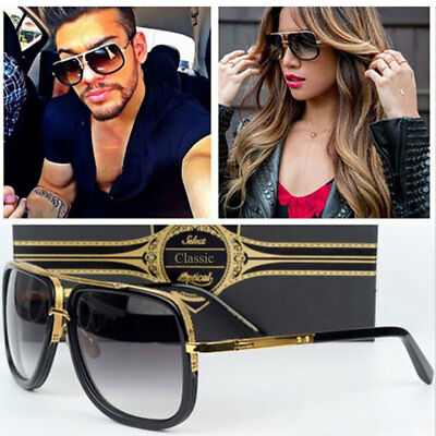 Men Women Couple Flat Top Luxury Brand Sunglasses Square Hot Point Quality High