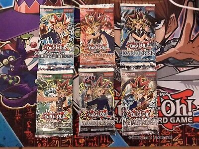Yugioh SET OF 50 old school cards from LEGEND OF BLUE EYES TO INVASION OF CHAOS