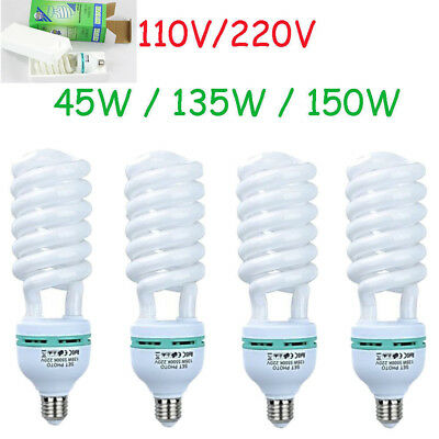 Studio Lights 45/135/150W E27 5500K Energy save Bulbs Daylight Photo 110/220V