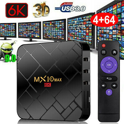 H96MAX+ Android 8.1 Oreo 4+64G Smart TV BOX Quad Core USB 3.0 4K Media Player IT