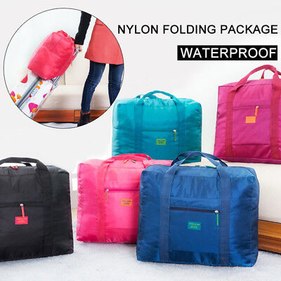 Portable Nylon Foldable Travel Luggage Camp Baggage Storage Carry-On Duffle Bag