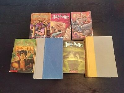 HARRY POTTER Complete Mixed Book Set 1-7 J.K. Rowling  Lot