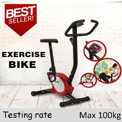 OUTAD Fitness Gym Exercise Bike Adjustable Resistance Cardio Workout Red