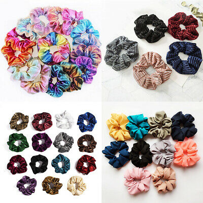 8 Style Velvet Hair Rope Scrunchie Ponytail Holder Rubber Band Hair Accessories