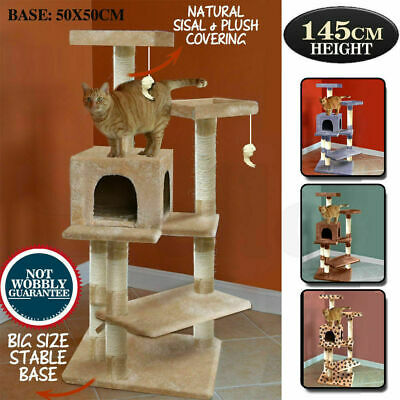 PaWz Cat Scratching Post Tree Gym House Condo Furniture Scratcher Pole 1.45 M AU