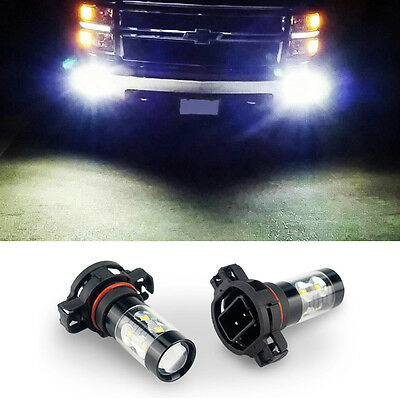 High output H16 PS24W 5202 CREE LED Fog Light Bulb 6500K super white car lamp D