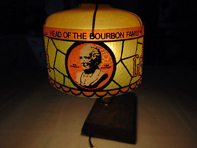 """Vintage Small Desk Lamp OLD GRAND-DAD Distillery """"Head of the Bourbon Family"""""""