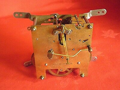 Vintage Made In England Clock Movement Spares Or Repair