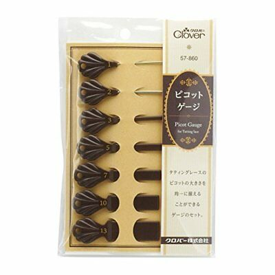 PICOT GAUGE for Tatting Lace - set of 7 size Clover Craft Tool Japan new.