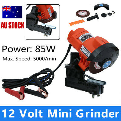 Portable 12Volt Mini CHAINSAW SHARPENER Electric Bar Mounted Chain File Grinder