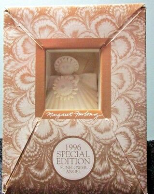 "1996 Special Edition MARGARET FURLONG 4"" Porcelain Bisque SUNFLOWER ANGEL"