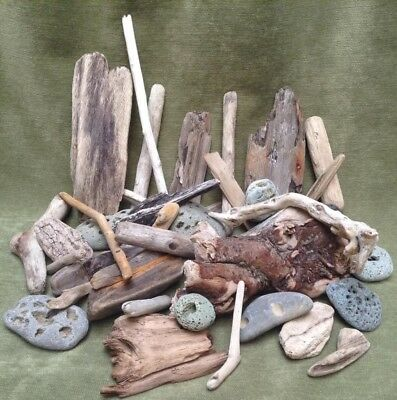 Driftwood Pebbles Mix Wood Display Aquarium Reptile Vivarium Tank Accessories