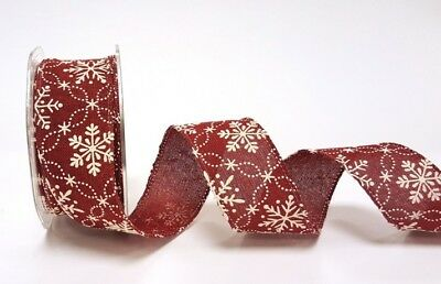 TOP QUALITY WIRED CHRISTMAS RIBBON 10MM ART 44069 ASSORTED COLS 3 MTR ROLL