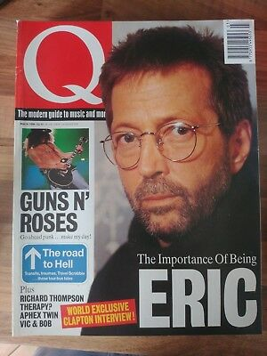 Q Magazine March 1994 - Guns N Roses - Eric Clapton Aphex Twin Interview