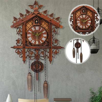 Europea Cuckoo Clock House Wall Clock Modern Art Vintage Home Decor Can't Ring