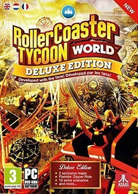 Rollercoaster Tycoon World Deluxe Edition PC DVD