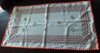 vintage Romanian table runner traditional embroidered rustic tablerunner 1930s