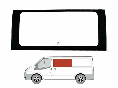 Left Hand Sliding Door Clear Fixed Window Ford Transit MK6/7 (00-14) [MWB; LWB]