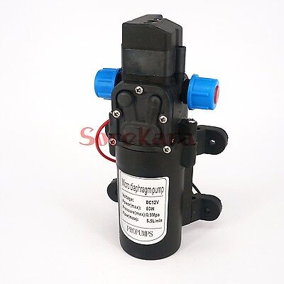 12V DC 80W Micro Diaphragm Pump Self Priming with Automatic pressure Switch YB