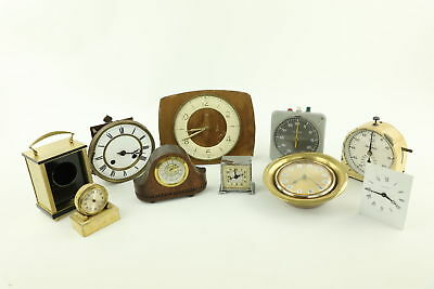 Job Lot of Vintage Assorted Clocks Parts, Movements, Cases, Dark Room Timers Etc