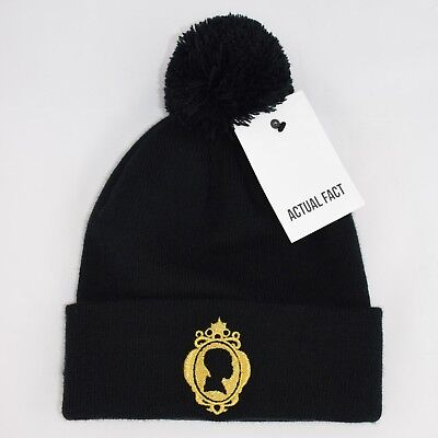 59ce855074f Actual Fact J Dilla Silhouette Hip Hop Roll Up Bobble Pom Pom Black Beanie  Hat