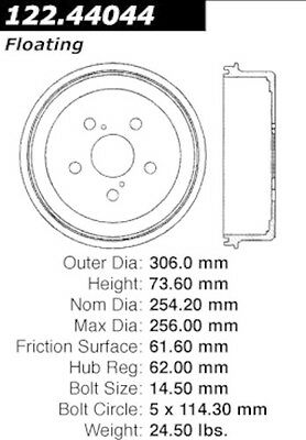 Centric Parts 122.44044 Rear Brake Drum