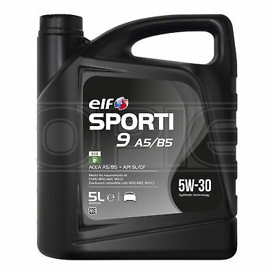 Elf Sporti 9 A5/B5 5w-30 High Performance Engine Oil - 5 Litres 5L