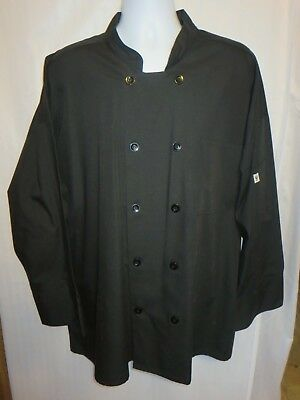 Uncommon Threads Chef Jacket 3XL Black Style 413 65% Polyester 35% Cotton