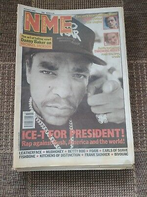 Nme Aug 8Th 1992 Ice-T Cover Danny Baker On Jacko Suede Review Latest Singles Ex