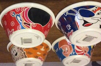 NEW 2015 Set Of 4 Glow In Dark Kellogg's Cereal Bowls