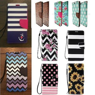 For Samsung Galaxy S6 Phone PU Flip Cover Stand Wallet Credit Card Leather Case