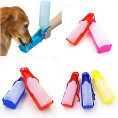 Foldable Portable Plastic Travel Pet Dog Cat Water Drink Feeding Bottle  300ml