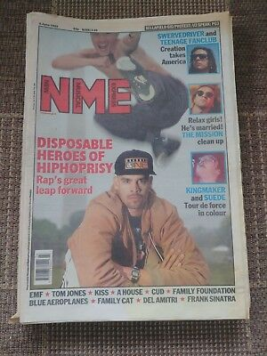 NEW MUSICAL EXPRESS NME - June 6 1992 - RAP / SWERVEDRIVER / TEENAGE FANCLUB