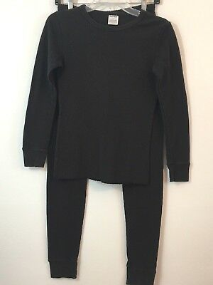 Women's Size S Black Joe Boxer Thermal Top and Bottom Set