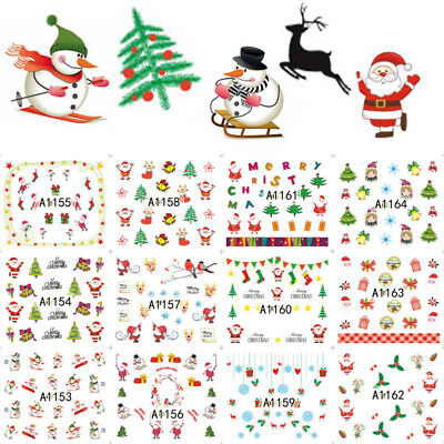 Cute Fashion Water Transfer Nail Art Nail stickers Decals Decoration Xmas Party