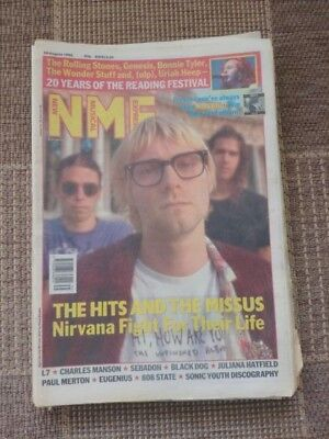 NEW MUSICAL EXPRESS NME - August 29 1992 - Nirvana / L7 / Charles Manson