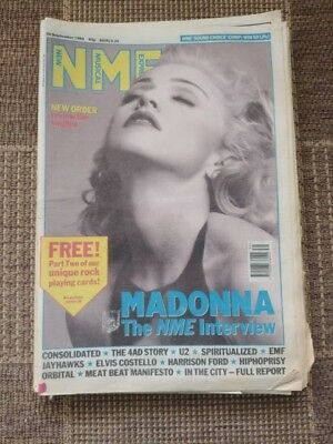 NEW MUSICAL EXPRESS NME - September 26 1992 - Madonna / Consolidated / 4AD Story