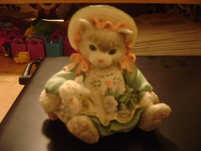 Calico Kittens Blossoms of Friendship Cat Figurine 1993