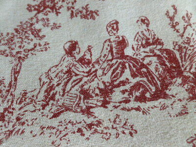 Antique french style Toile de jouy linen table mats cloths napkins placemats