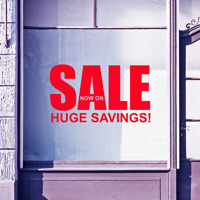 Sale Now On Sign Shop Retail Store Window Display Vinyl Wall Stickers Decal A309
