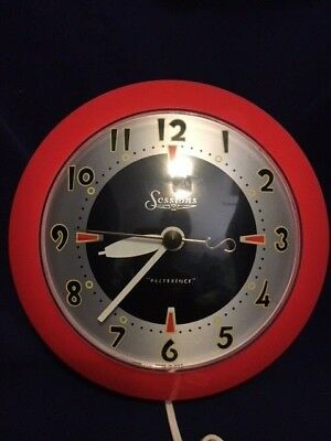 Sessions Preference Wall Clock Atomic Era Space Age Electric Atomic Orange Cloc