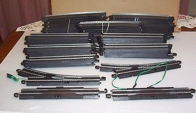 Lot of Vintage Bachmann E Z Track + Switches 63 pieces Straight & Curved 9 inch