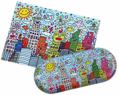 Rizzi Set Brillenetui Etui Metall Brillenputztuch Microfaser My New York City