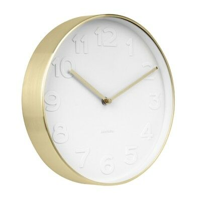 Mr White Numbers Gold Clock - Small [D]