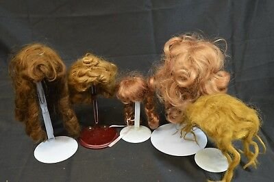 Lot Of 5 Vintage Doll Wigs