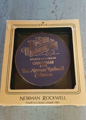 Norman Rockwell 4th in a Series Dated 1983 Hallmark Christmas Collection