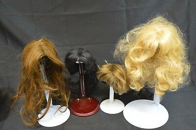 Lot Of 4 Human Hair Doll Wigs ~12/13~